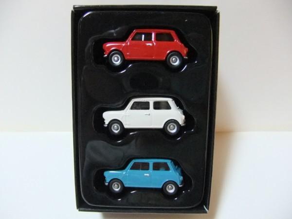 MINI  COOPER  赤・白・水色 CORGI TOYS TRACKSIDE CR4003-3 CAR MINI SET  1/76_画像2