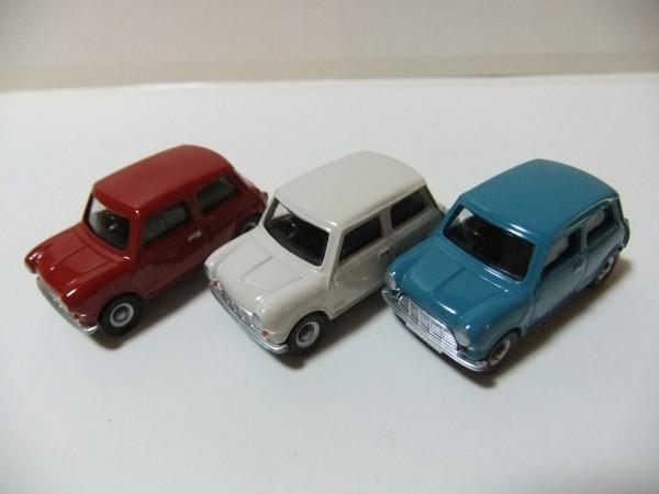 MINI  COOPER  赤・白・水色 CORGI TOYS TRACKSIDE CR4003-3 CAR MINI SET  1/76_画像5