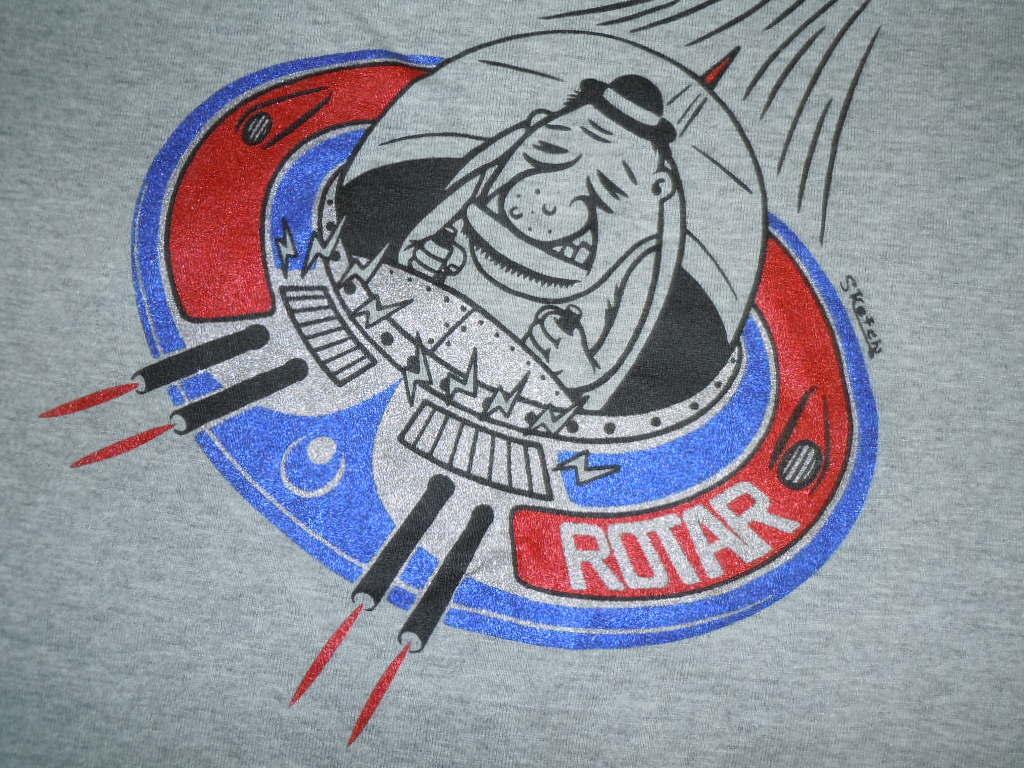 希少 ROTAR Tシャツ 良品 /Sketch氏デザイン,ratland,snoid,weirdo,スケッチ,ラットランド,UFOのプリント,グレー_画像1