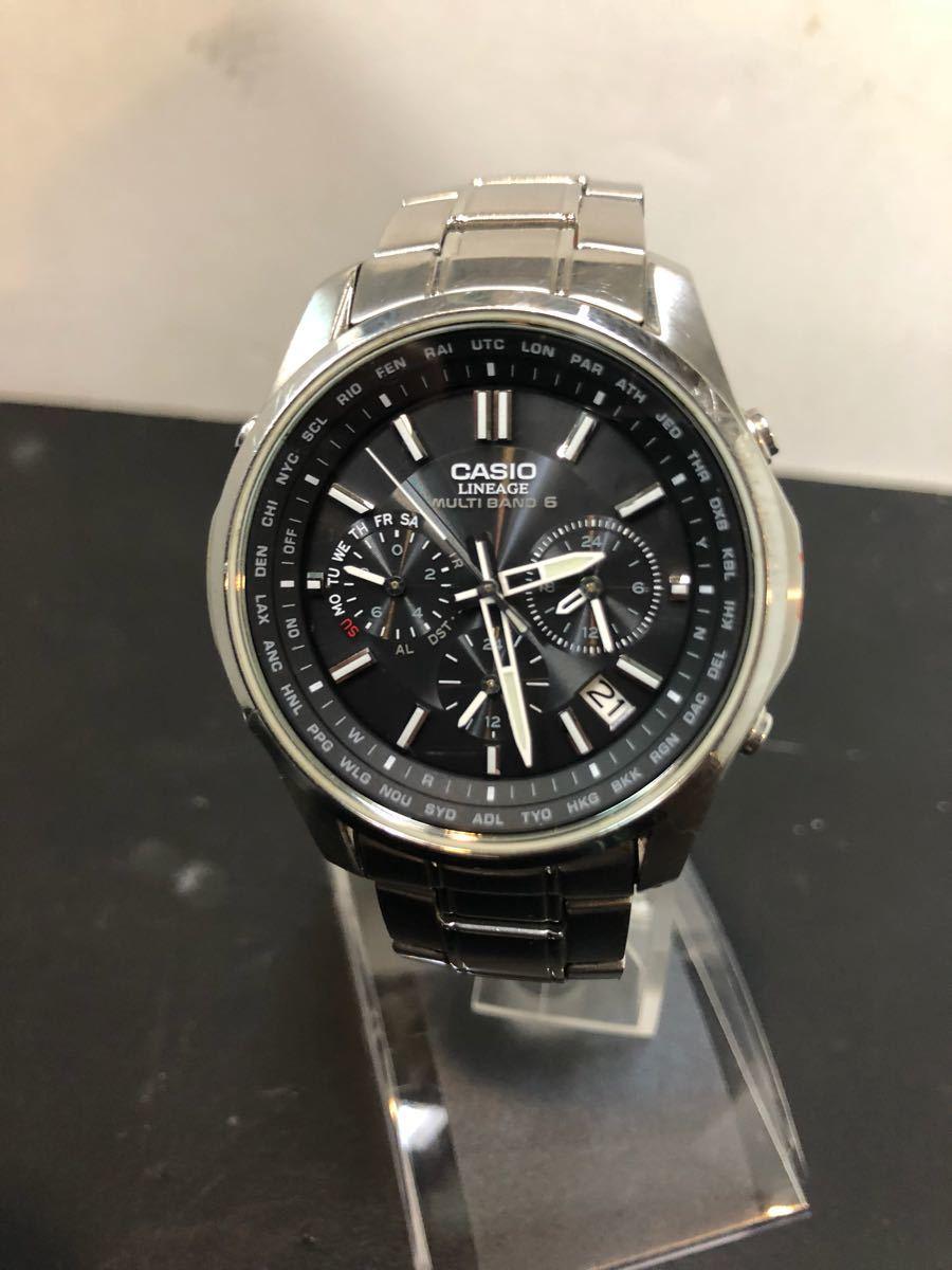24b5ba2ade 7 美品 カシオ リニエージ LIW-M610 電波 ソーラー メンズ 腕時計 CASIO LINEAGE