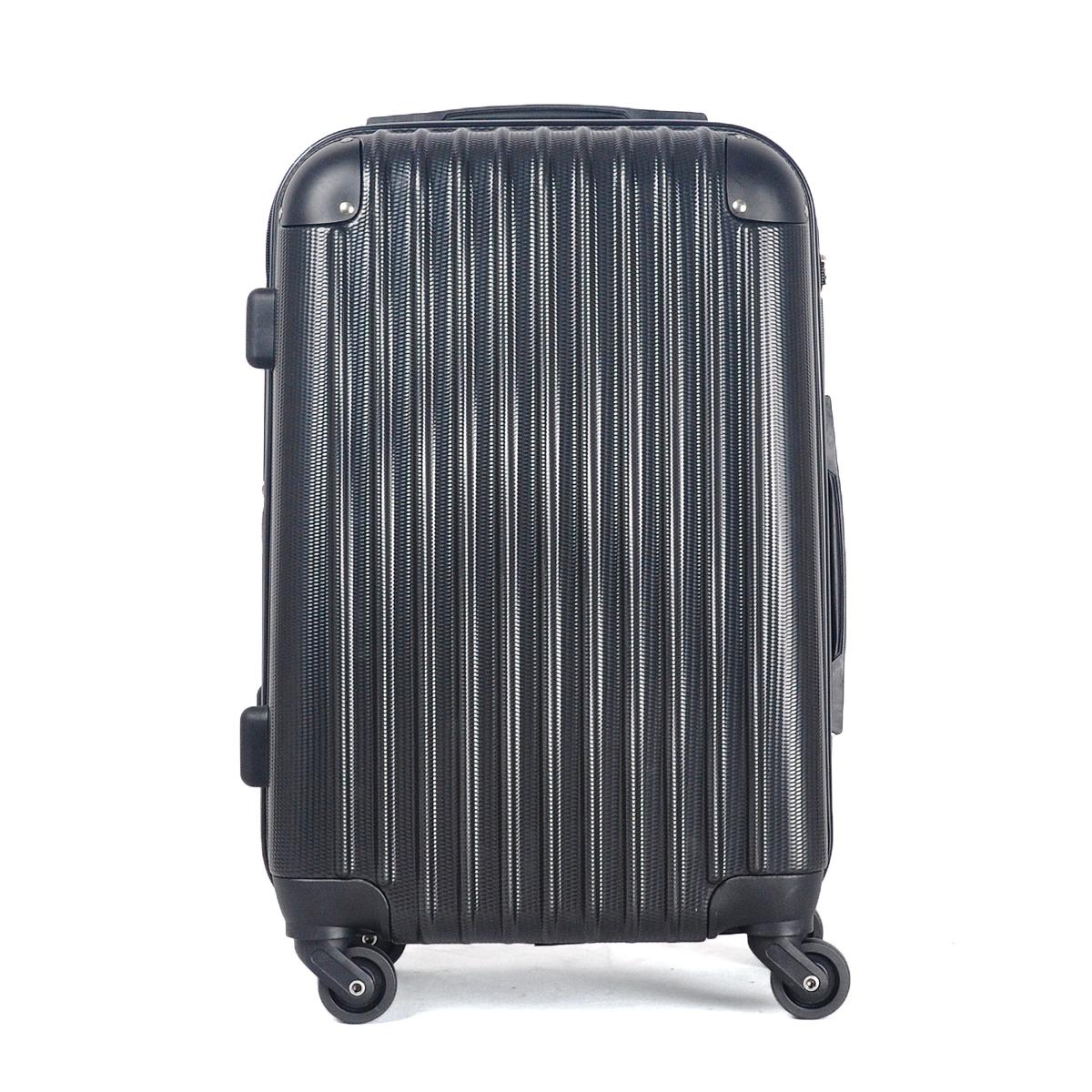 大型軽量スーツケース キャリーバッグ TSAロック付き Lサイズ 黒_画像3