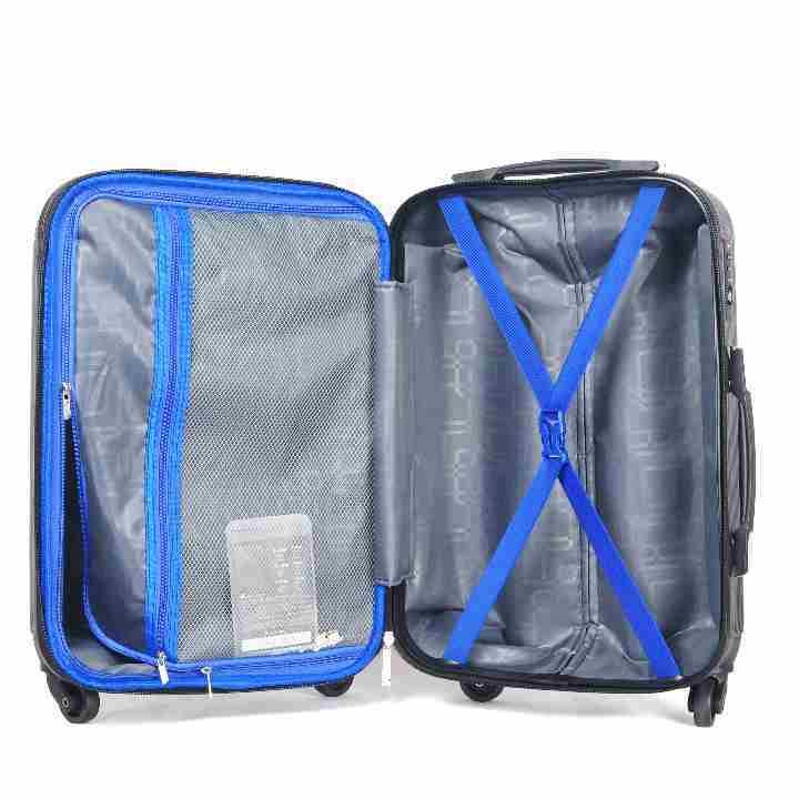 大型軽量スーツケース キャリーバッグ TSAロック付き Lサイズ 黒_画像5