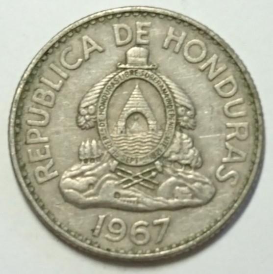 【ホンジュラス】20センタボ硬貨 1967年 約18mm (3)_画像2