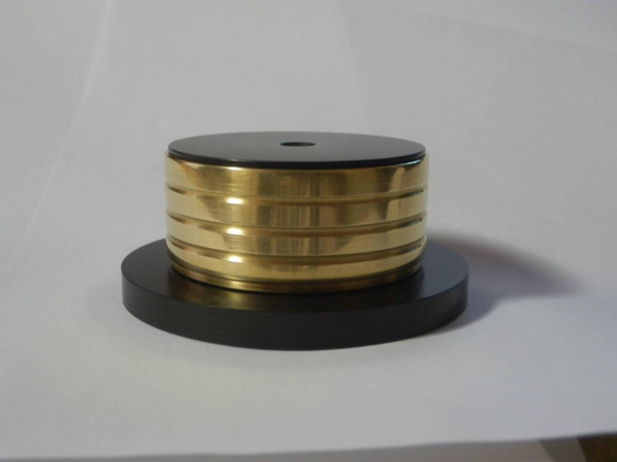 手工品 金属&ドライカーボン製 スタビライザー(表面:真鍮鏡面仕上)_画像1