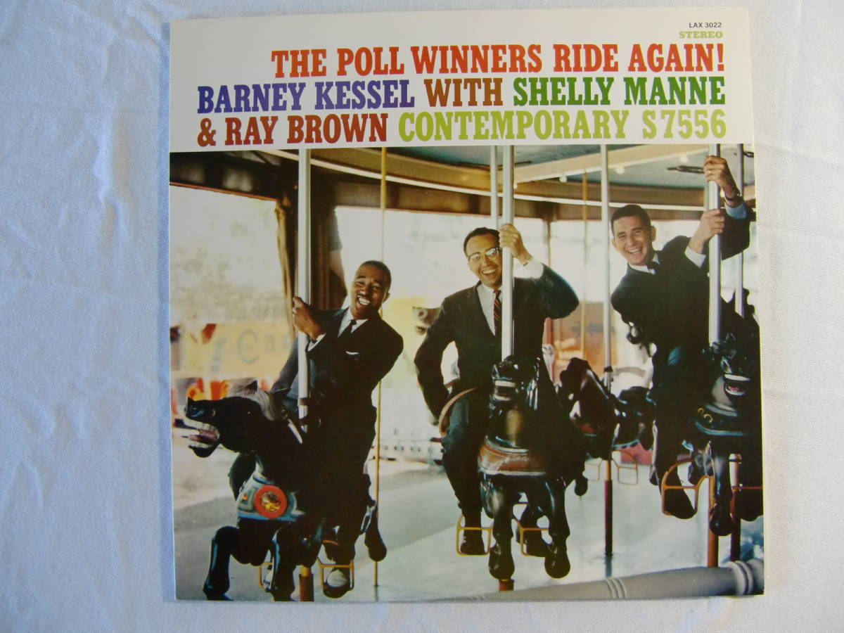 BARNEY KESSEL with SHELLY MAN and RAY BROWN   /   The Poll Winners Ride Agein!_画像1