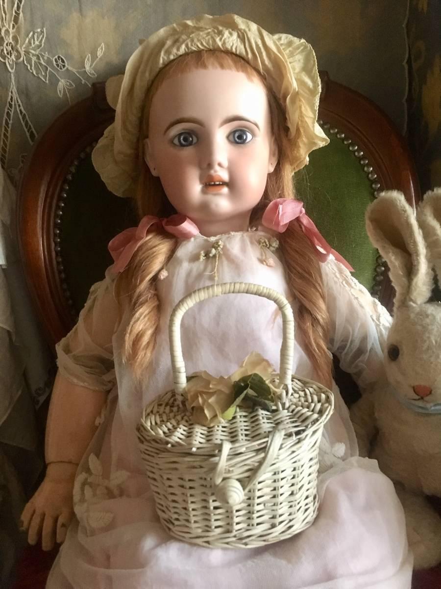 JUMEAU 1907 オープンマウス80㎝大きなお人形★ブルーグレーの美しい瞳。利発なお顔の稀に見る魅力的な美しい子です。_画像6