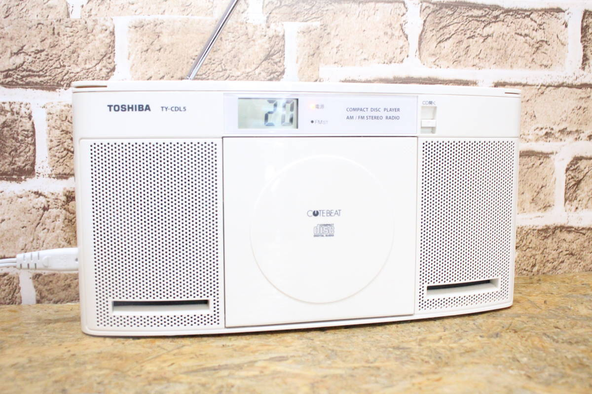 TOSHIBA CD radio player FM/AM AUX TY-CDL5 (0830-S3): Real
