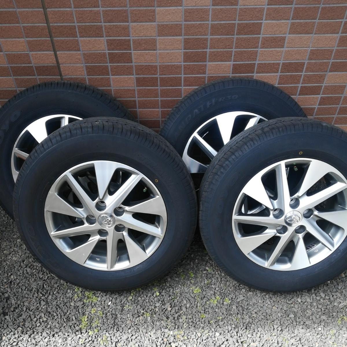 トヨタ アルファード 純正 ホイール 美品 20系 ハイブリッド 16インチ タイヤ 新品 同様 トーヨー R30 215/65/16 17年製造
