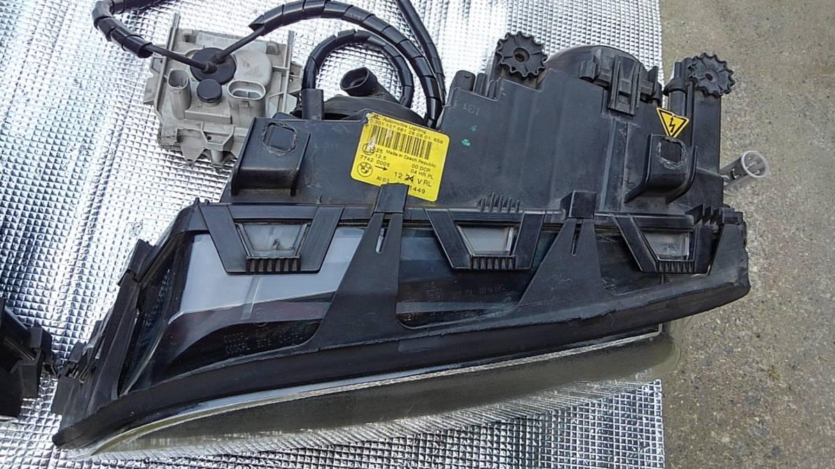〓BMW E46 M3 CIクーペ 前期 純正 HID ヘッドライト 中古 左右セット プロジェクター キセノン 点灯確認〓_画像3