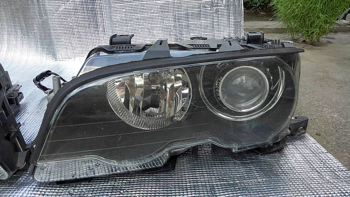 〓BMW E46 M3 CIクーペ 前期 純正 HID ヘッドライト 中古 左右セット プロジェクター キセノン 点灯確認〓_画像2