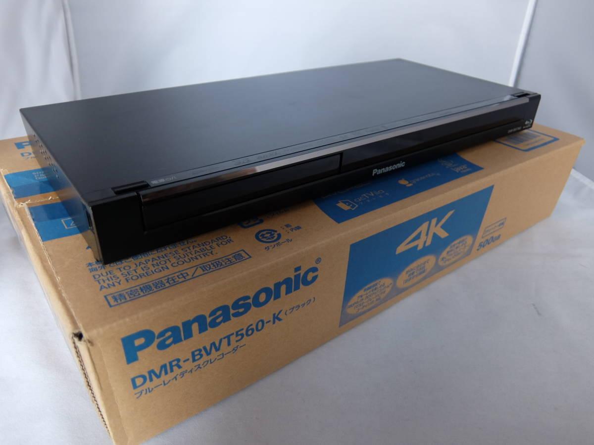 ジャンク品 Panasonic DIGA DMR-BWT560-K 500GB HDD 4K対応 リモコン N2QAYB000918 B-CAS 取扱説明書 箱付き 訳有り ブルーレイレコーダー_画像2