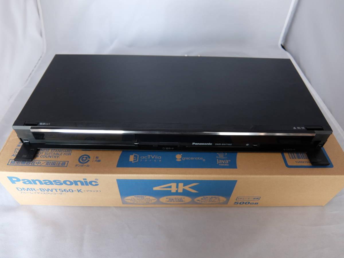 ジャンク品 Panasonic DIGA DMR-BWT560-K 500GB HDD 4K対応 リモコン N2QAYB000918 B-CAS 取扱説明書 箱付き 訳有り ブルーレイレコーダー_画像3