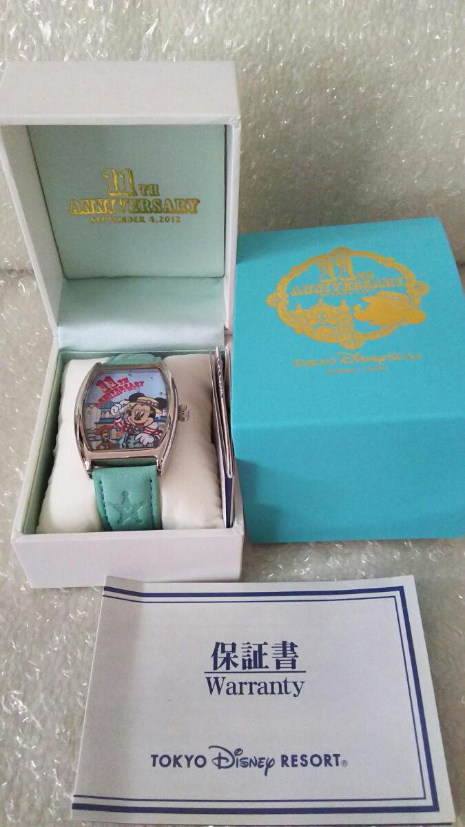 送料無料 新品 未使用 ディズニーシー TDS 11周年 ウォッチ 腕時計 ミッキー ウッディ トイ・ストーリーマニア ピクサー_画像2