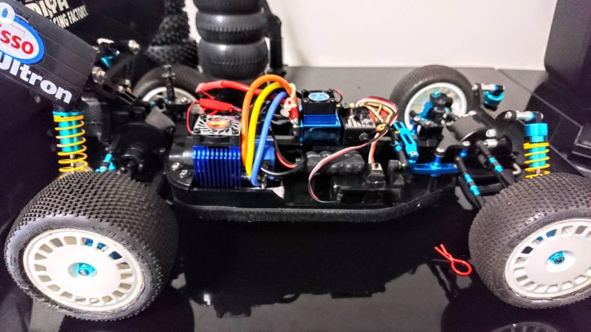 タミヤ DF-02 グラベルハウンド ブラシレスモーター 多数オプション付き バギー プロライン _画像8