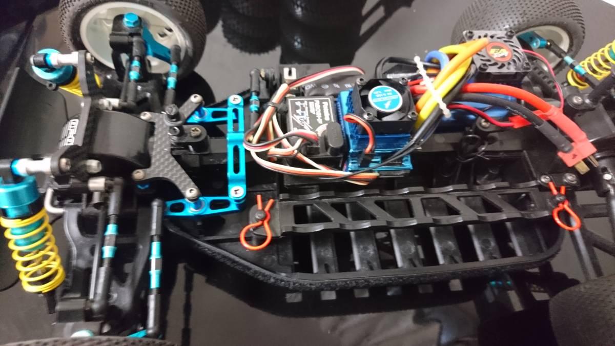 タミヤ DF-02 グラベルハウンド ブラシレスモーター 多数オプション付き バギー プロライン _画像9