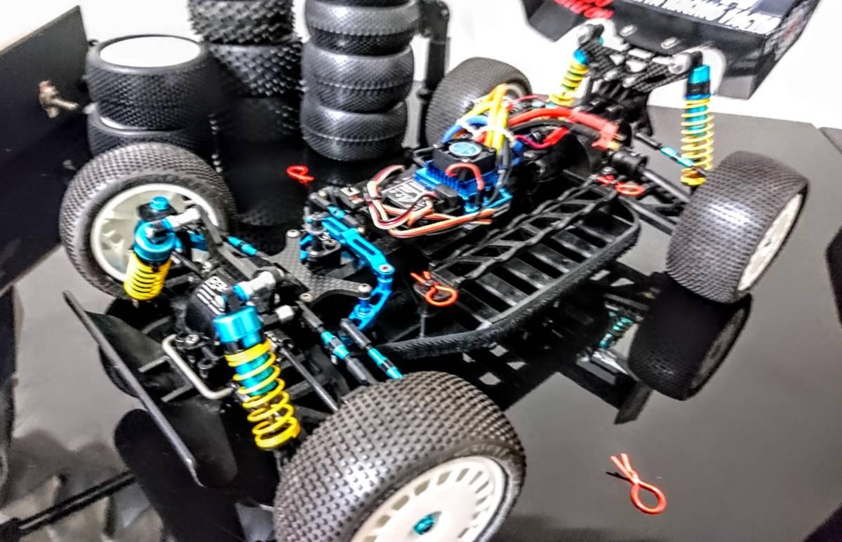 タミヤ DF-02 グラベルハウンド ブラシレスモーター 多数オプション付き バギー プロライン _画像2