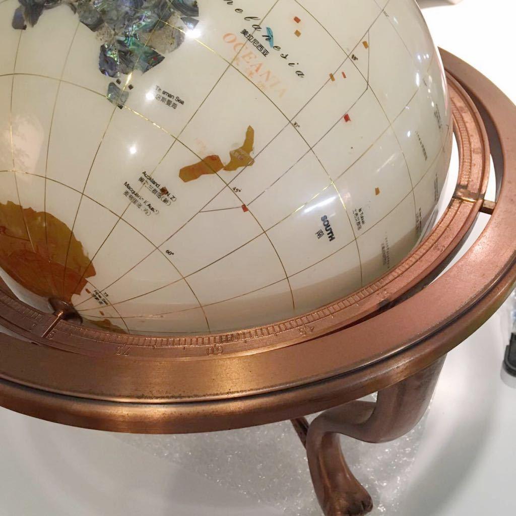 ★☆地球儀 天然石 約30cm インテリア 方位磁石付き☆★_画像7