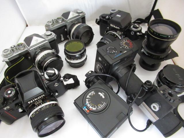 499☆ニコン ジャンクセット F3 NIKKOR 35mm 2.8/NIKKOR T ED 360mm 1:8/F2 85mm 1:2/F AUTO 5,8cm 1.4 /50mm 1:2/SB-7/AUTO 1:2 35mm