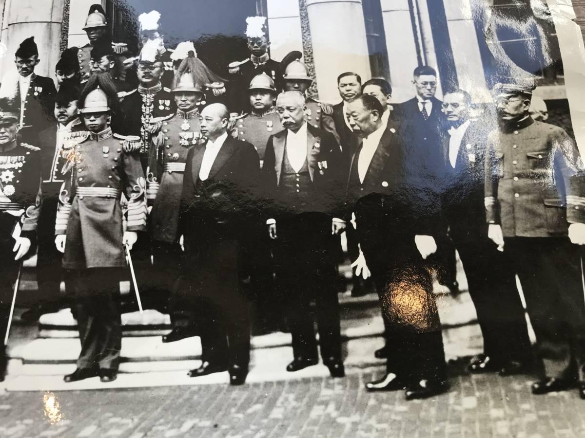 超入手困難 世界初出品【満州国皇帝 愛新覚羅・溥儀 歴史的貴重写真】1934年3月1日 満州国皇帝即位式直後の記念写真 菱刈隆 関東軍司令官_画像4