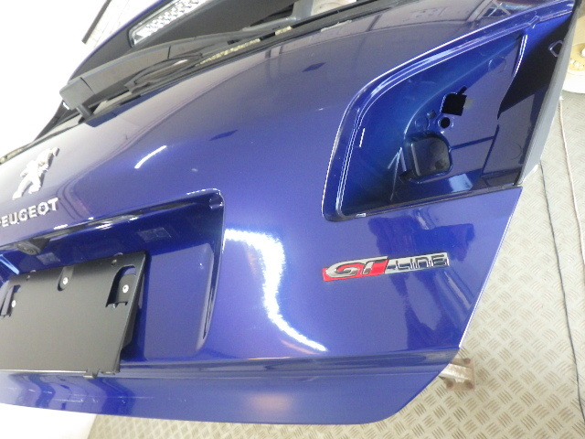 T9HN02 プジョー308 GTライン H29年 リアゲート バックドア ガラス欠品 マグネティックブルー 中古 即決_画像8