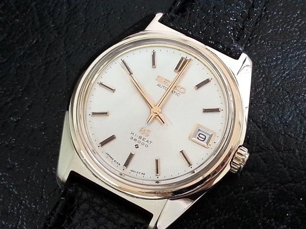 大野時計店 グランドセイコー 6145-8000 自動巻 1968年10月製造 金張  CAP GOLD 36000ビート 希少_画像1