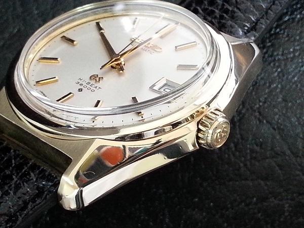 大野時計店 グランドセイコー 6145-8000 自動巻 1968年10月製造 金張  CAP GOLD 36000ビート 希少_画像2