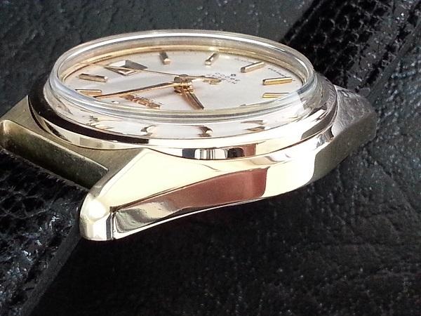 大野時計店 グランドセイコー 6145-8000 自動巻 1968年10月製造 金張  CAP GOLD 36000ビート 希少_画像3