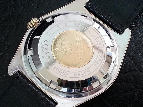 大野時計店 グランドセイコー 6145-8000 自動巻 1968年10月製造 金張  CAP GOLD 36000ビート 希少_画像5