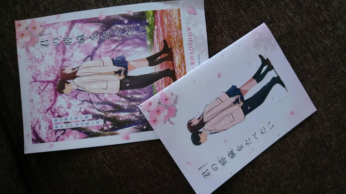 「劇場アニメ 君の膵臓をたべたい」プレスシート☆非売品うちわ付