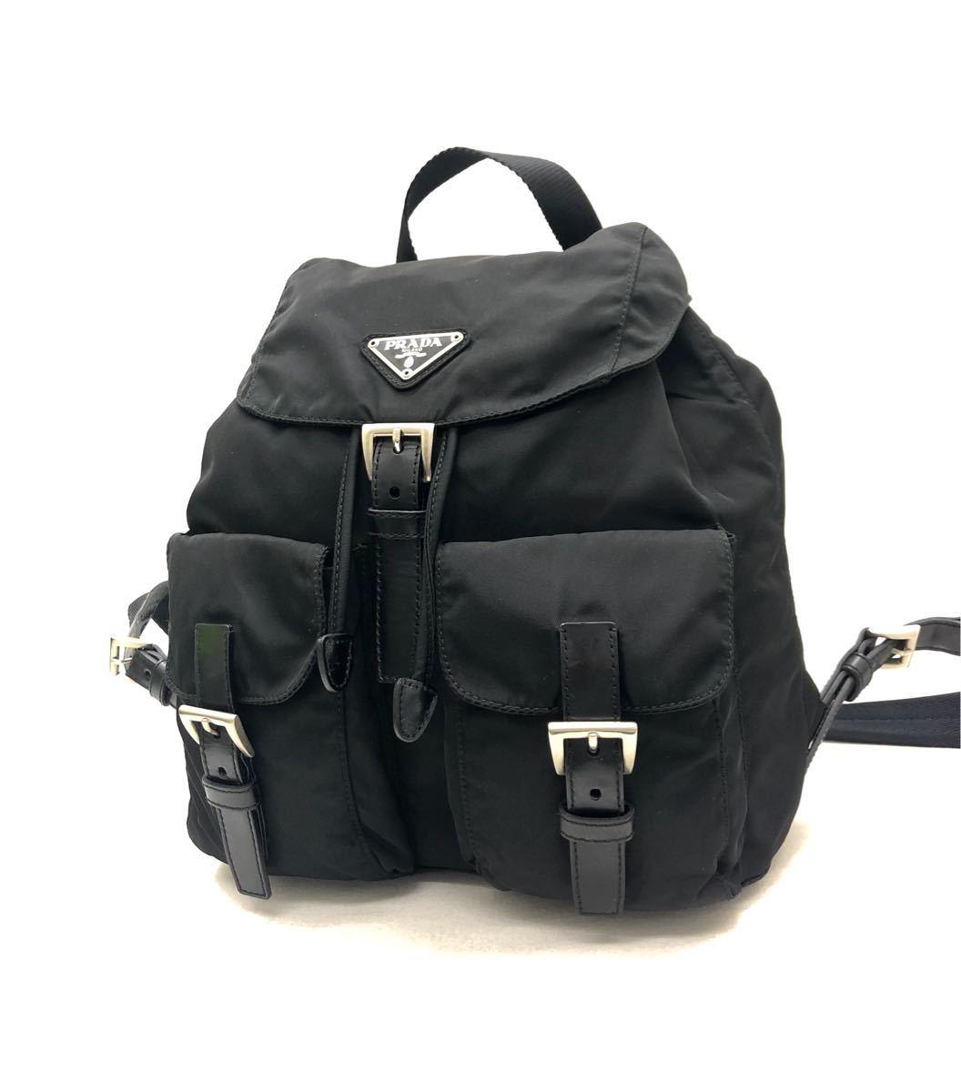 19d1496fe5e4 極美品 PRADA プラダ テスート ナイロン リュックサック バックパック ブラック 黒 13
