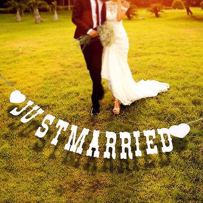 ☆ウェディングガーランド☆ フォトウェディング 結婚式 前撮り 二次会 ウェルカムボード 飾り モビール JUST MARRIED_画像5