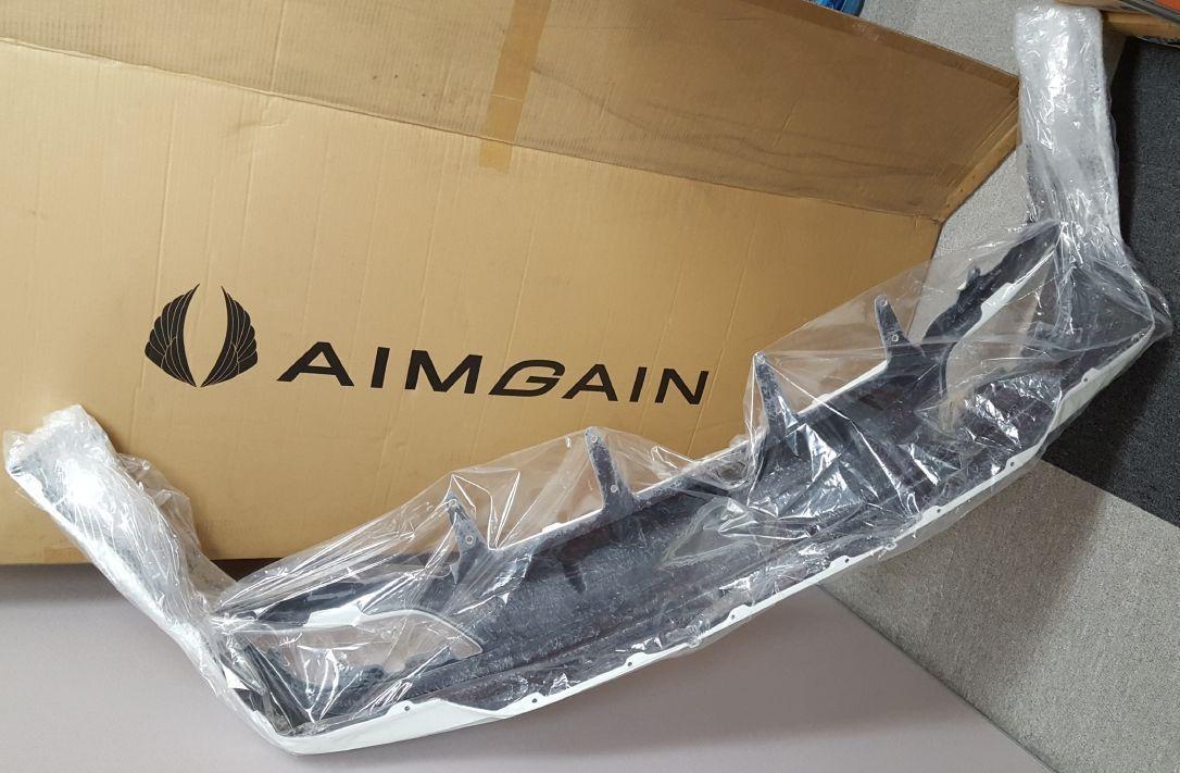 【在庫処分/即納】レクサス NX 200t 300h Fスポーツ 前期(H26.7-H29.8)AIMGAIN リアアンダースポイラー/FRP エイムゲイン エアロ LEXUS_画像5
