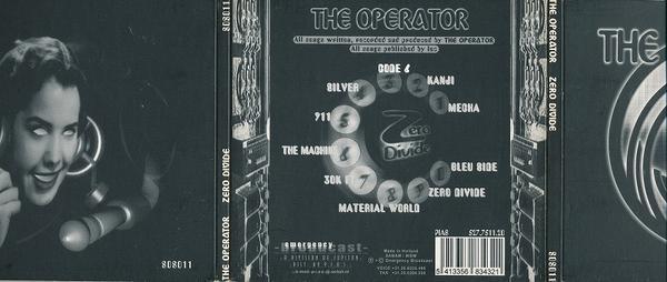 THE OPERATOR/ZERO DIVIDE/EU盤/中古CD!! 商品管理番号:2854_画像2