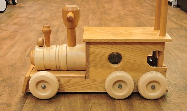 KOIDE/コイデ 汽車 ポッポ 木製 手押し おもちゃ 乗用玩具 乗り物 木のおもちゃ