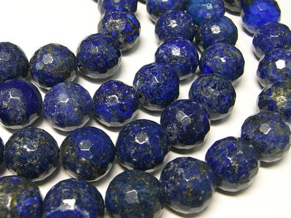 天然石 ラピスラズリ ラウンドカット 連販売 約14mm*C-0449*_画像1
