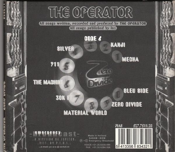 THE OPERATOR/ZERO DIVIDE/EU盤/中古CD!! 商品管理番号:2854_画像3