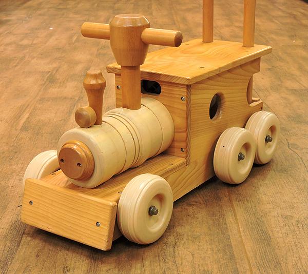 KOIDE/コイデ 汽車 ポッポ 木製 手押し おもちゃ 乗用玩具 乗り物 木のおもちゃ_画像1
