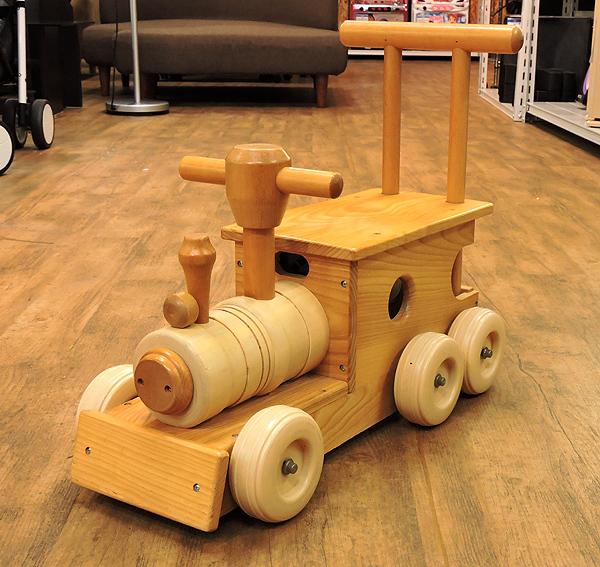 KOIDE/コイデ 汽車 ポッポ 木製 手押し おもちゃ 乗用玩具 乗り物 木のおもちゃ_画像2