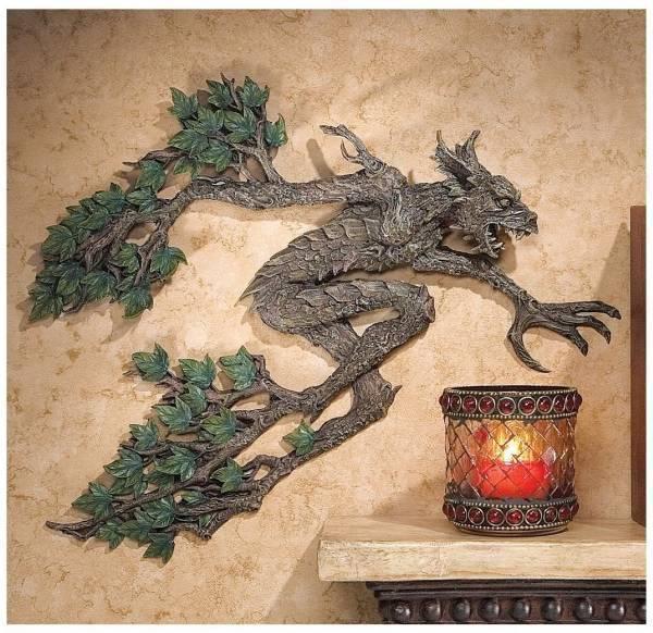 デザイン・トスカノ製 スリーピー・ホロウの 木の妖精 壁彫像 彫刻/ Design Toscano Tree Spirit of Sleepy Hollow Wall Sculpture(輸入品_画像1