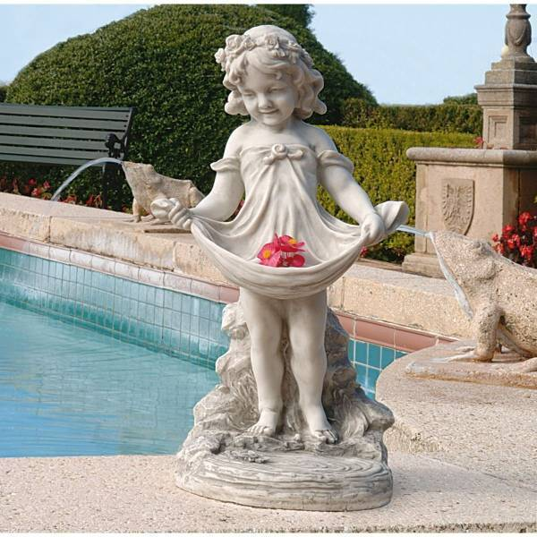 デザイン・トスカノ製 アビゲイル(侍女)の豊かなエプロン像 大理石風 彫像 彫刻/ Abigail's Bountiful Apron Statue(輸入品_画像1