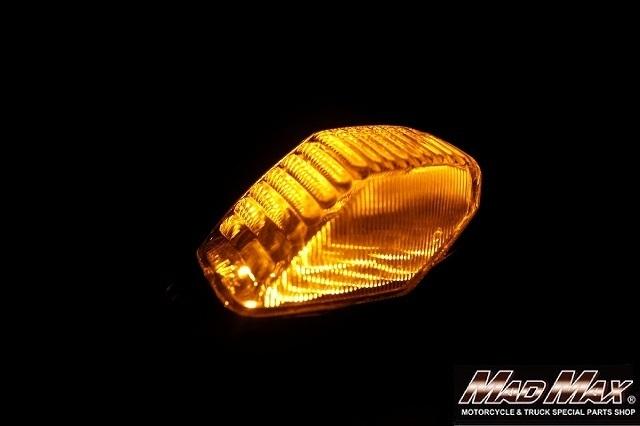 【送料800円】MADMAX トラック用品 SMD12連 サイドマーカーランプ Sサイズ 12-24V兼用 オレンジ/ロケット ナマズマーカー 車高灯 車幅灯