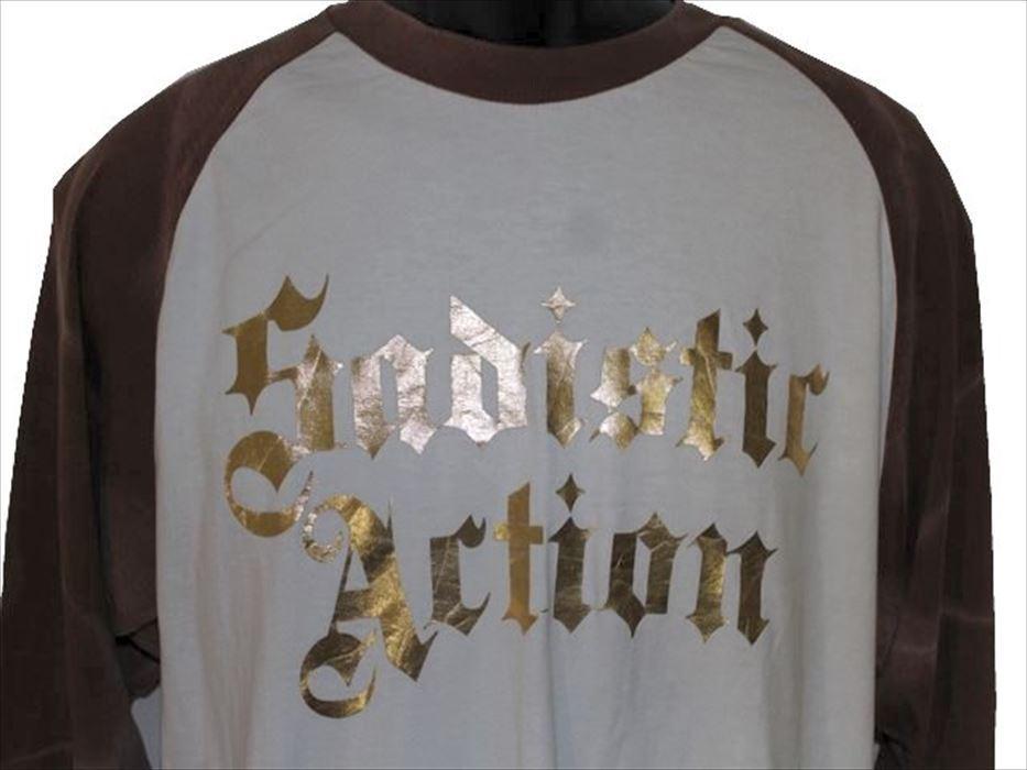 サディスティックアクション SADISTIC ACTION メンズ長袖Tシャツ Mサイズ NO6 新品_画像2