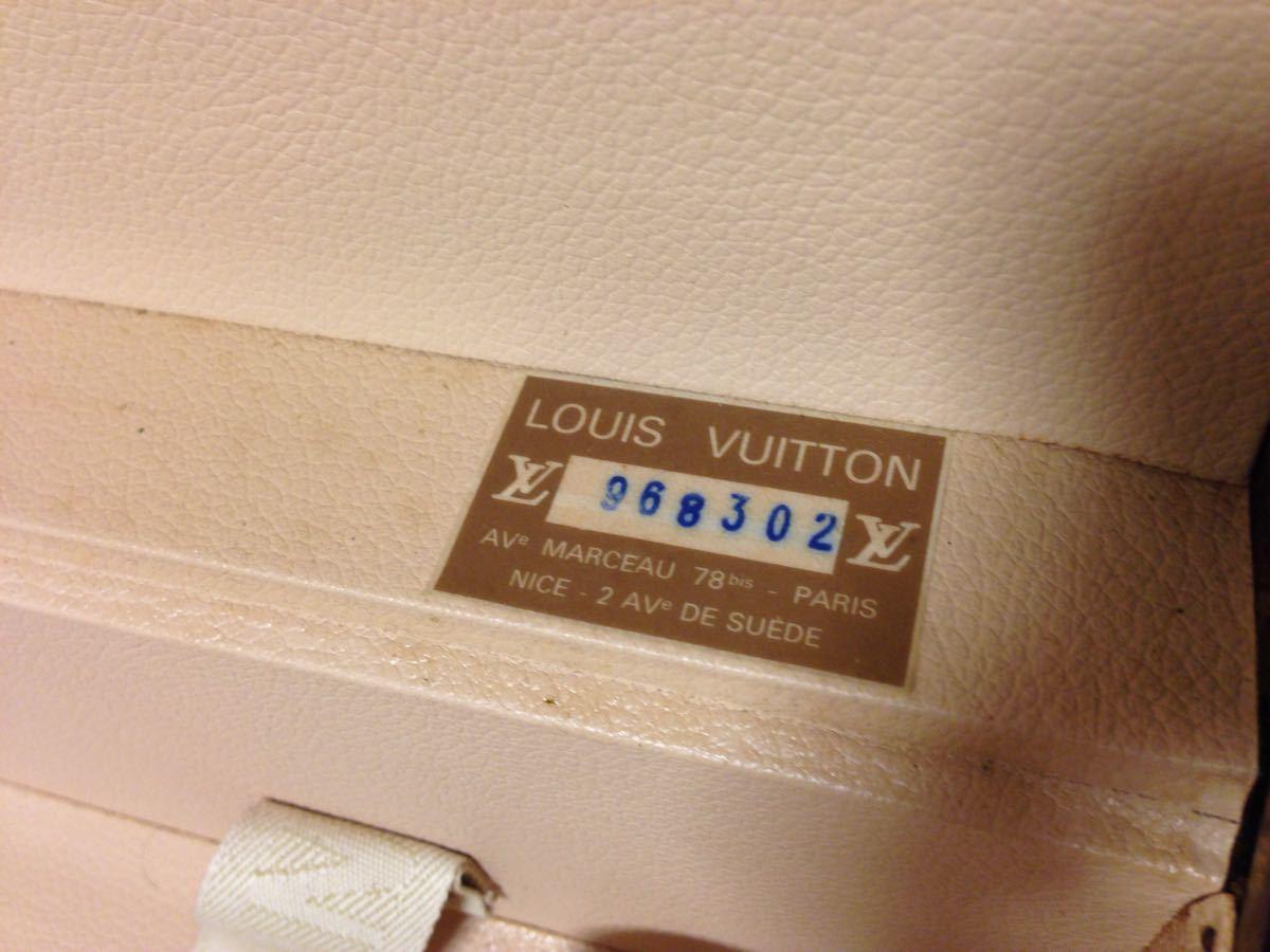 本物美品【ルイヴィトン】モノグラム トランクケース 旅行箱 コトヴィル50_画像9