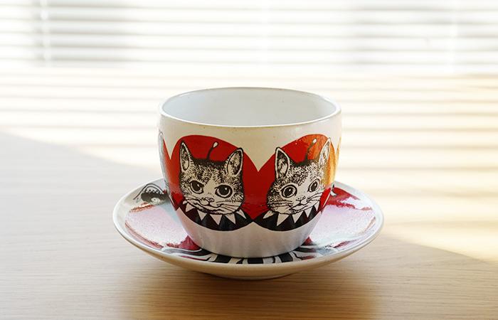 ☆新文章☆售完Higuchi Uko Gustave Kun茶杯Kutani yaki GUSTAVE 編號:b328444004