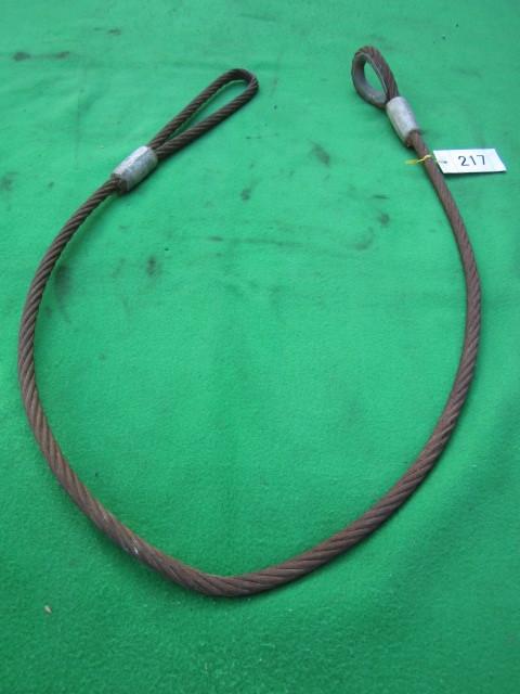 217 玉掛ワイヤー 吊りワイヤー つりワイヤー ロープ 中古品 クレーン作業等に。_画像8