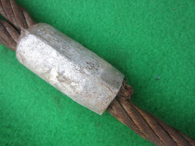 217 玉掛ワイヤー 吊りワイヤー つりワイヤー ロープ 中古品 クレーン作業等に。_画像4