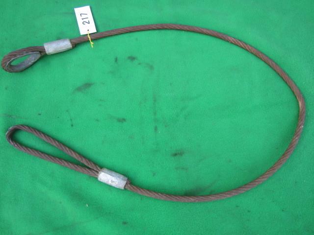 217 玉掛ワイヤー 吊りワイヤー つりワイヤー ロープ 中古品 クレーン作業等に。_画像3
