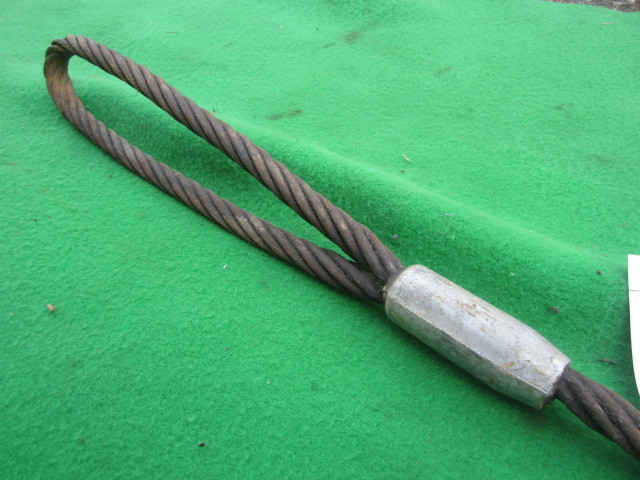 218 玉掛ワイヤー 吊りワイヤー つりワイヤー ロープ 中古品 クレーン作業等に。_画像8