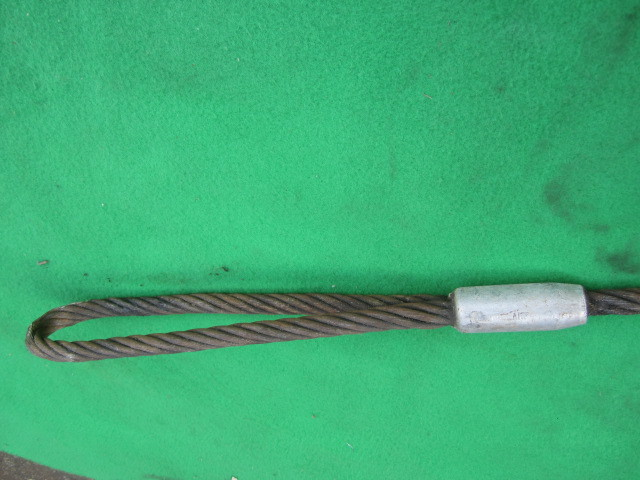 218 玉掛ワイヤー 吊りワイヤー つりワイヤー ロープ 中古品 クレーン作業等に。_画像2