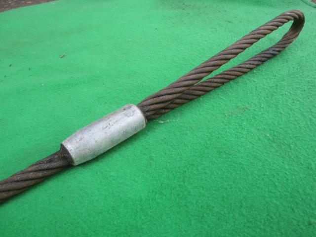 218 玉掛ワイヤー 吊りワイヤー つりワイヤー ロープ 中古品 クレーン作業等に。_画像7